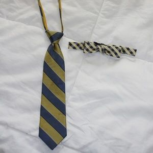 Boys ties yellow and blue